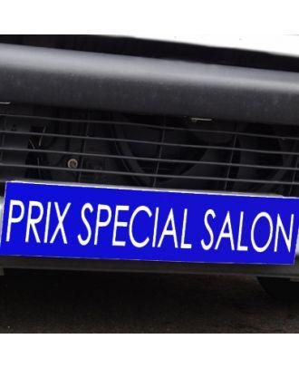 Cache plaque d'immatriculation avantage bleu Prix Spécial Salon