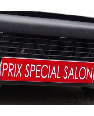 Cache plaque d'immatriculation avantage rouge Prix Spécial Salon