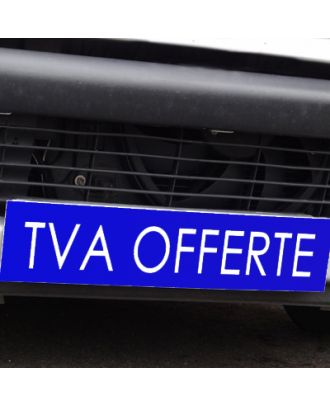 Cache plaque d'immatriculation avantage bleu TVA Offerte