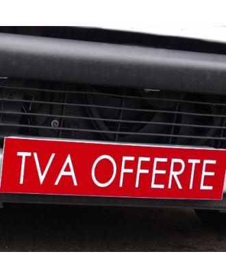 Cache plaque d'immatriculation avantage rouge TVA Offerte