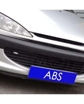 Cache plaque d'immatriculation avantage bleu ABS