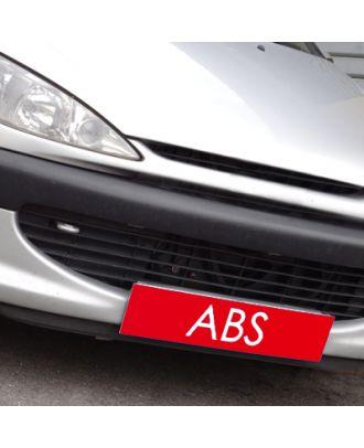 Cache plaque d'immatriculation avantage rouge ABS