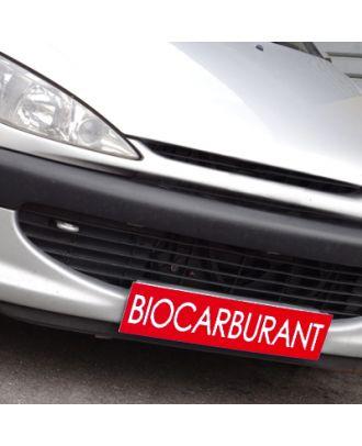 Cache plaque d'immatriculation avantage rouge Biocarburant